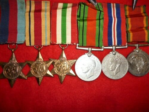 WW2 South African, Africa & Italy Star Named Group of (6) Medals - Hurndall
