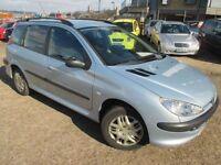 PEUGEOT 206 1.4 SW S 5d 74 BHP (silver) 2005