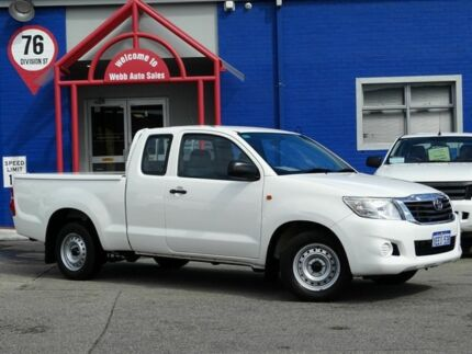 2013 Toyota Hilux GGN15R MY12 SR Xtra Cab White 5 Speed Automatic Utility Welshpool Canning Area Preview