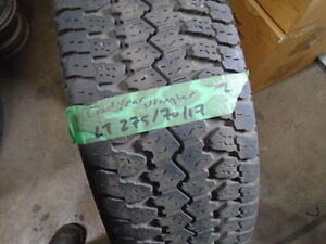 PAIR USED ALL SEASON TIRES LT / 275-70-17 { GOODYEAR } R,H AUTO