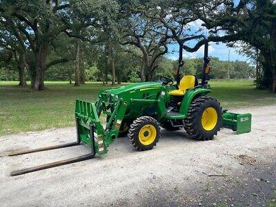 2020 John Deere 3025e Tractor W Loader - Forks - Box Blade Package