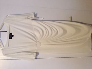 size 10 never worn cream lined midi length classic dress