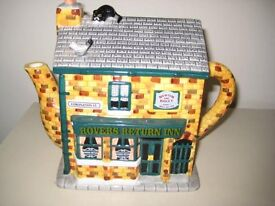 """Coronation Street Novelty Teapot Depicting The """"Rovers Return Inn"""". OFFERS WELCOME."""