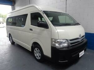 2013 Toyota Hiace KDH223R MY12 Commuter White 4 Speed Automatic 4D Bus Erina Gosford Area Preview