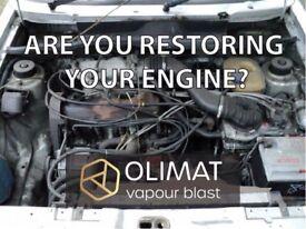 Restoring your engine/gearbox? Wet/Vapour blasting Service