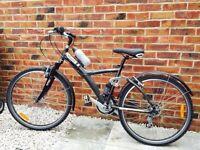 Decathlon original 7 hybrid full suspension bike - cheap at £100 - near new condition!