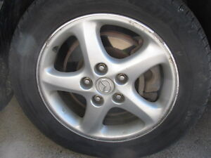 "Four 16"" tires on Mazda3 Rims 205/60R16 Sarnia Sarnia Area image 2"