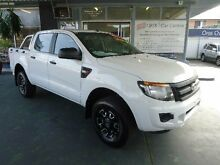 2012 Ford Ranger PX XL 2.2 HI-Rider (4x2) White 6 Speed Automatic Crewcab Hamilton Newcastle Area Preview