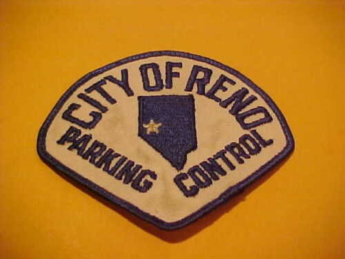 RENO NEVADA PARKING CONTROL POLICE PATCH SHOULDER SIZE USED
