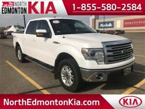 2014 F150 SuperCrew LARIAT 4x4 . **LEATHER-NAV-SUNROOF**
