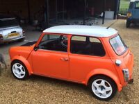 Austin Mini - Orange & White 1275 MG Metro Engine, Lots of extras