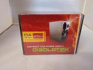 Diablotek DA Series PSDA250 250W ATX Power Supply  -NEW