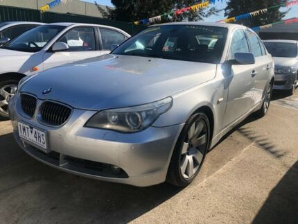 2004 BMW 530i E60 Silver 6 Speed Auto Steptronic Sedan Hoppers Crossing Wyndham Area Preview