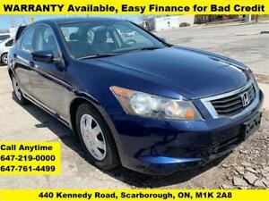 2008 Honda Accord Sdn LX FINANCE 3-YEARS WARRANTY AVAILABLE