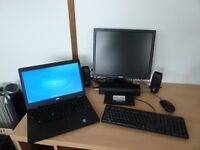 Dell Lap top & docking station, external keyboard, mouse & monitor plus speakers