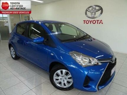 2016 Toyota Yaris NCP130R MY15 Ascent Blue 5 Speed Manual Hatchback
