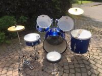 Drum Kit, 5 piece full size, Performance Percussion