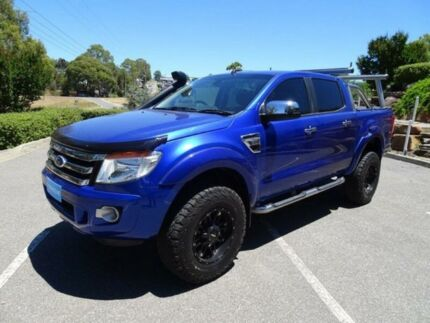 2015 Ford Ranger PX XLT Double Cab Blue 6 Speed Sports Automatic Utility Mount Barker Mount Barker Area Preview