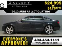 2012 AUDI A4 2.0T QUATTRO *EVERYONE APPROVED* $0 DOWN $179/BW!