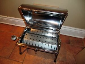 PORTABLE BUTANE STAINLESS STEEL BBQ, BRAND NEW IN THE BOX