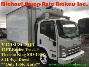 2012 ISUZU NQR 12FT REEFER BOX TRUCK *THERMOKING* ONLY 135K