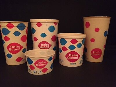 1960S Dairy Queen   Un Used  Ice Cream Cup   Container Lot  5