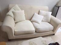 Large Laura Ashley 2 Seat Sofa, Beige/Cream