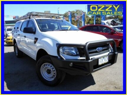 2014 Ford Ranger PX XL 2.2 (4x4) Cool White 6 Speed Automatic Crew Cab Utility