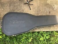Acoustic guitar case, fibreglass, as new. 'Takamine' brand