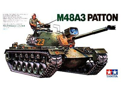 Tamiya 35120 U.S. M48A3 Patton Tank Plastic Model Kit 1/35 for sale  Shipping to Canada