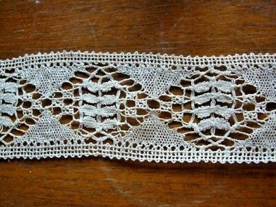 Antique cream cotton lace 6m 40cms long x 5cms wide good condition