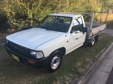 1996 Toyota Hilux RN85R White 5 Speed Manual Cab Chassis Macquarie Hills Lake Macquarie Area Preview