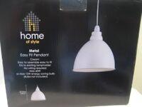 HOMEBASE EASY FIT METAL LIGHT PENDANT, CREAM, STILL IN BOX NEVER USED