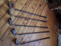 Lynx Golf Clubs, Irons and Drivers with 2 additional putters
