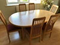 Solid Ash extending dining table