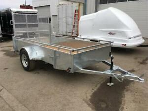 5X10 Hot Dip Galvanized Utility Trailers - Commercial Grade