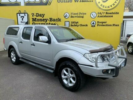 2012 Nissan Navara D40 S5 MY12 ST-X 550 Silver 7 Speed Sports Automatic Utility Invermay Launceston Area Preview