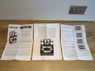 Wampler tape Echo Guitar effects pedal