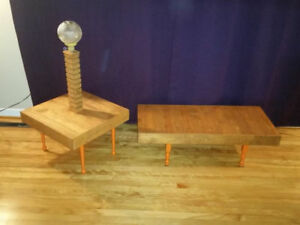 Hand made solid wood coffee and end table