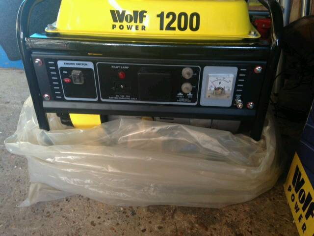 Generatorin Polegate, East SussexGumtree - Wolf 1200 950w power generator brand we still in box with instructions