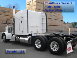 Chauffeurs classe 1 Plate-forme (Flatbed) Qc-On