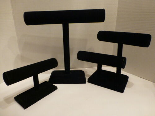 3 Assorted Quality Black Velvet Bracelet Tabletop Displays, 1 Original Owner