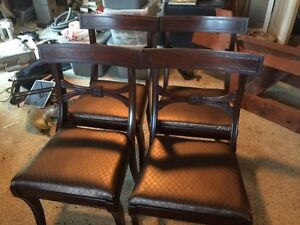 4 beautiful antique dining room chairs for sale!