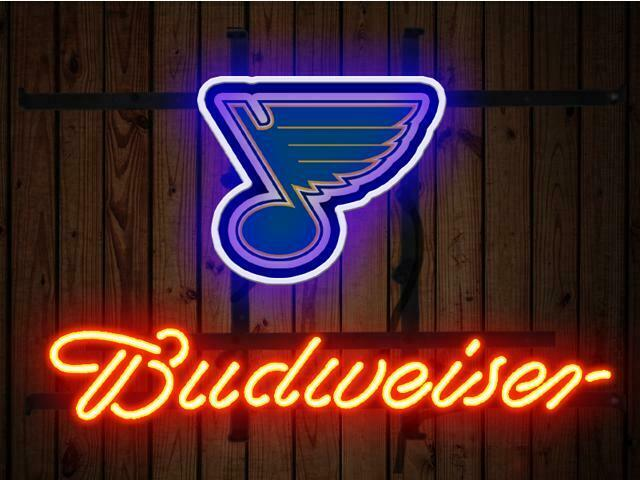 "Budweiser Bud Light St. Louis Blues Neon Sign Beer Bar 14""x1"