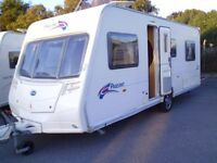 2007 Series 6 Bailey Pageant Burgundy 4 Berth fixed bed.