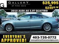 2010 Audi A6 3.0T QUATTRO $249 bi-weekly APPLY NOW DRIVE NOW