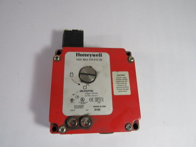 Honeywell GKLE44P7S4 Solenoid Safety Interlock Switch 120VAC  USED