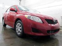 2010 Toyota Corolla ROUGE AIR CLIMATISÉ 78,000KM