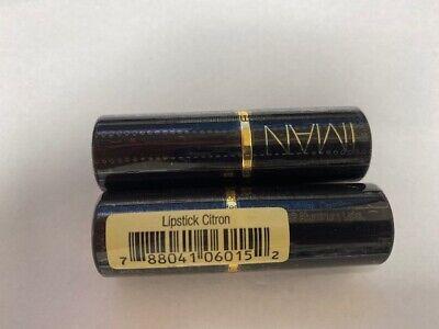 Iman Luxury Moisturizing Lipstick 015 Citron of 2 NEW Free shipping