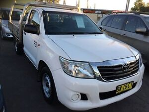 2012 Toyota Hilux GGN15R Cab Chassis White Automatic Utility Homebush Strathfield Area Preview